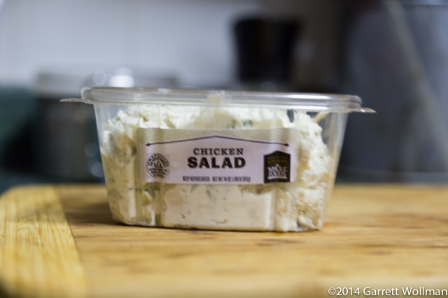 Container of chicken salad