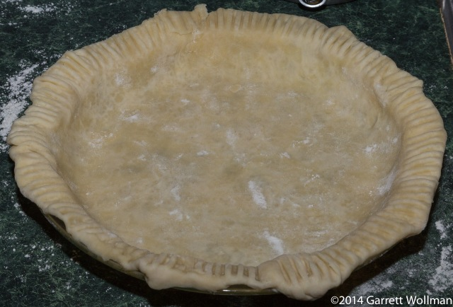 Pie crust ready for blind baking