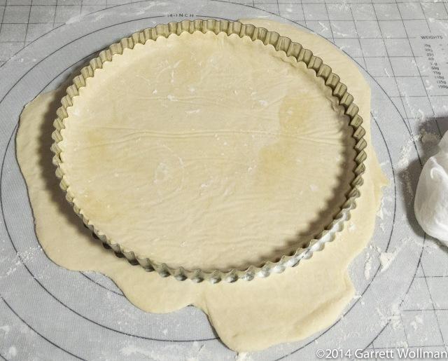 Bottom crust settled into bottom of tart pan