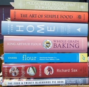 Eight recipes, seven cookbooks, six pies