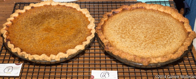 Two pies side-by-side