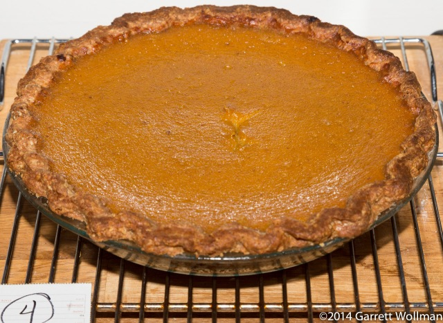 The third pie to be completed was Brown Butter Pumpkin Pie, from Emily ...