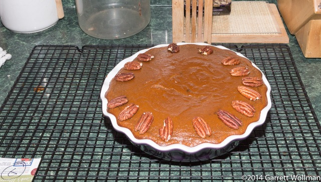 Moosewood's Pecan Pumpkin Pie