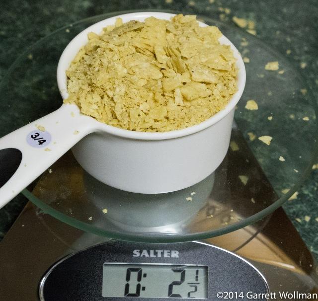 Ground-up tortilla chips