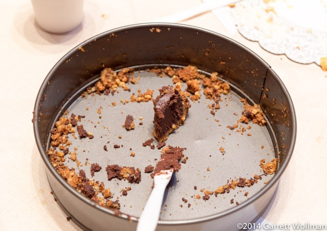 What's left of that chocolate torte