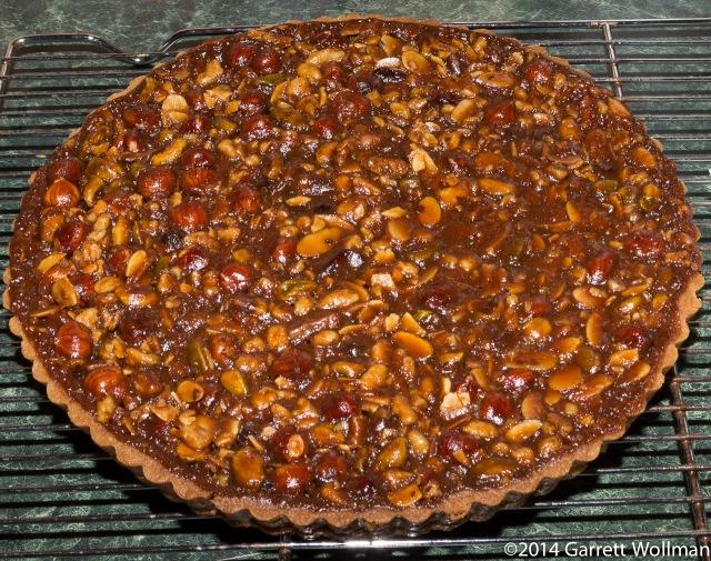 Ooey, Gooey Caramel-Nut Tart