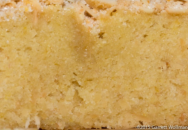 Close-up of cake showing crumb texture