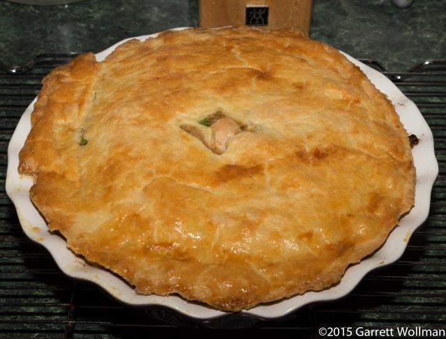 Cooked pot pie