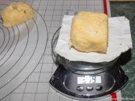 Dividing the dough into two pieces