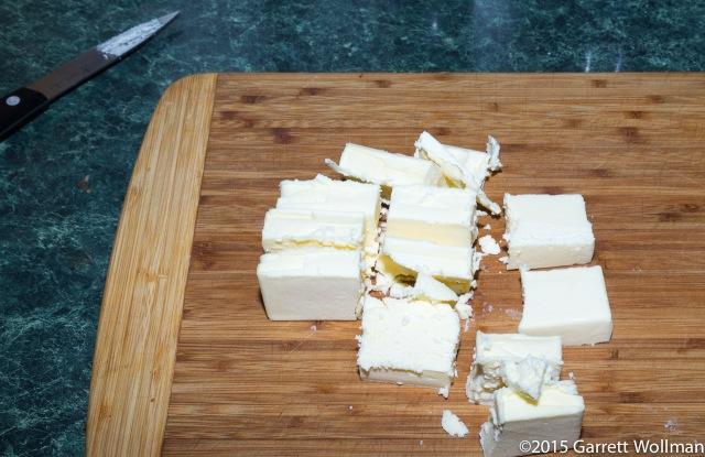Twelve pieces of butter