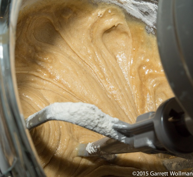 Sugar-butter-egg-flour mixture