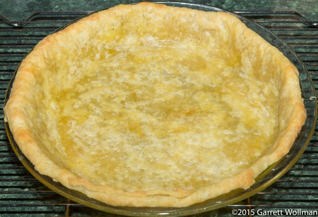 Fully blind baked pâte brisée pie shell