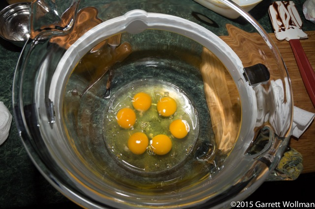 Six fresh organic eggs