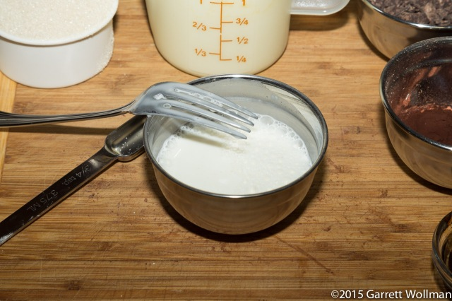 Cornstarch and milk slurry