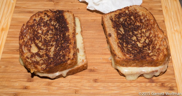 Two grilled cheese sandwiches
