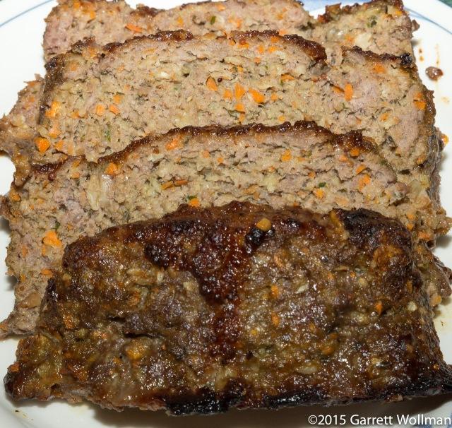 Four slices of meatloaf
