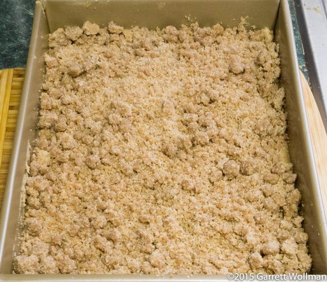 """Crumbs"" on top of cake batter"