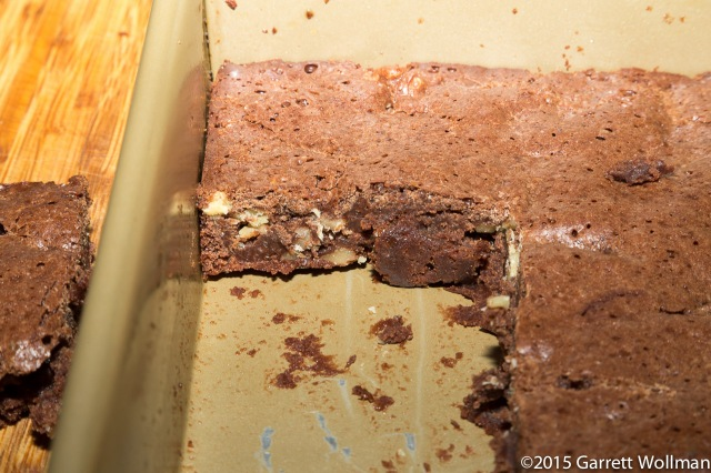 Difficulty removing brownies from pan