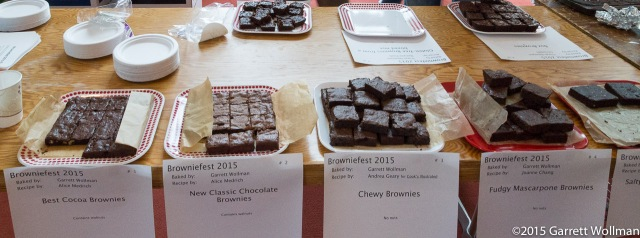 First table of brownies (mostly mine)