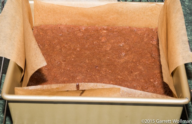 Brownies cooling in pan