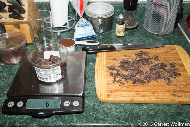 """Chocolate chopping, with """"waste"""""""