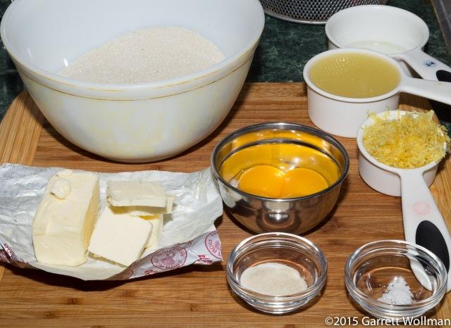 Mise en place for lemon filling