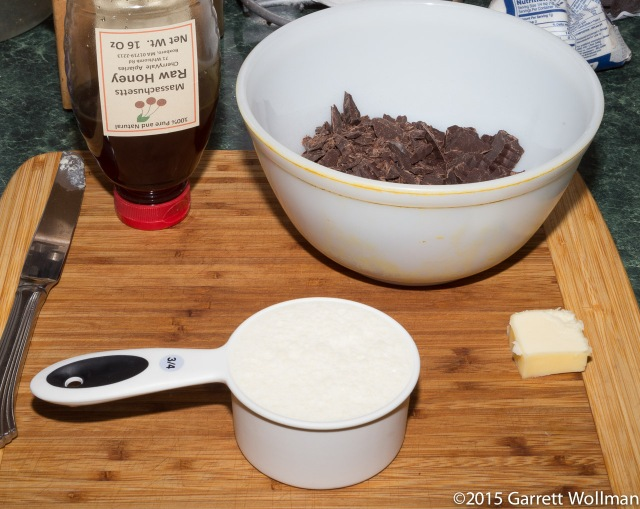 Mise en place for ganache