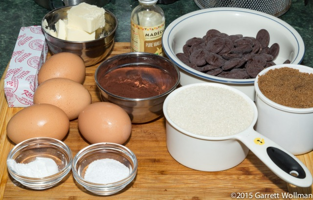 Mise en place for brownies