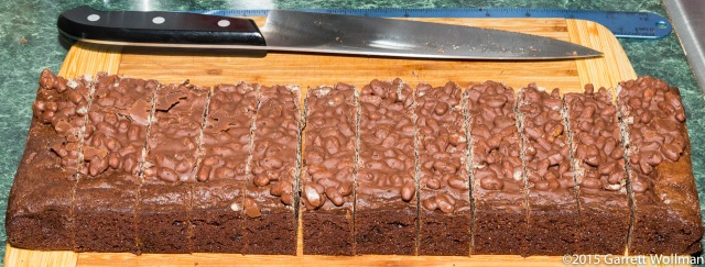 Brownies portioned according to recipe suggestion