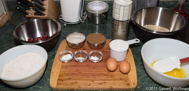 Mise en place (with four bowls!)