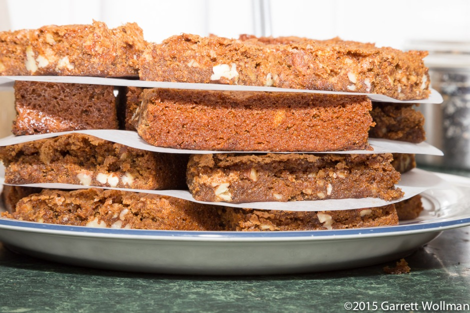 Vertical cross-section of blondies