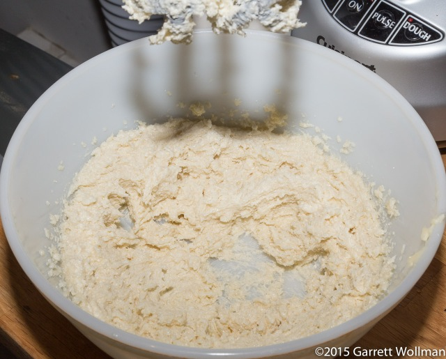 Butter and sugar creamed using hand mixer