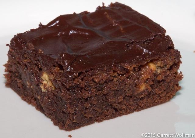 Single brownie on a plate