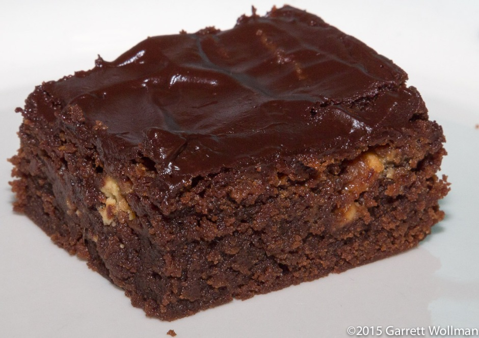 Single brownie on a plate