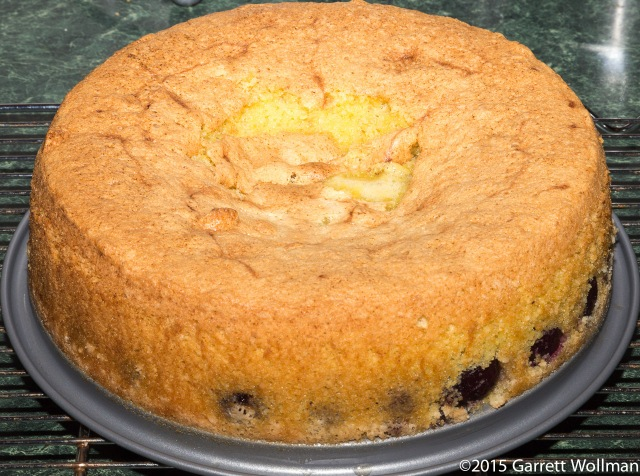 Cake after removing springform ring