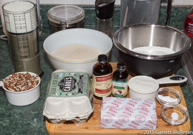 Mise en place for cake