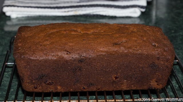 Baked and cooled loaf of pumpkin bread