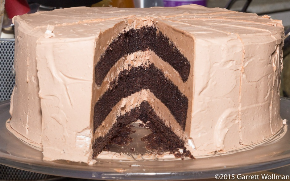 Cake minus one slice (shallower angle)