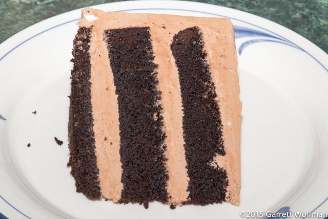 One slice of cake on a plate
