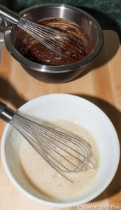 Ingredients for milk-chocolate buttercream