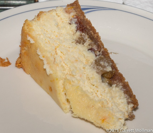 One slice of cheesecake