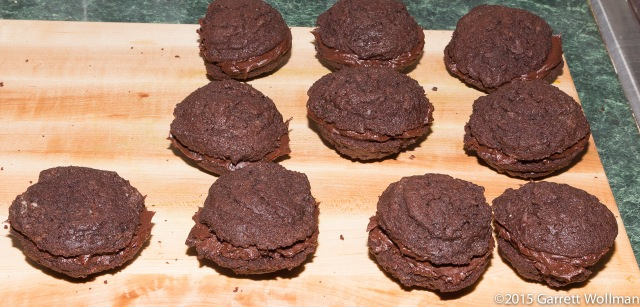 Ten assembled whoopie pies