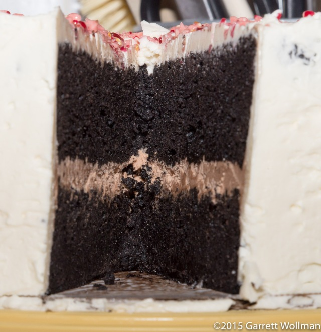 Interior of birthday cake