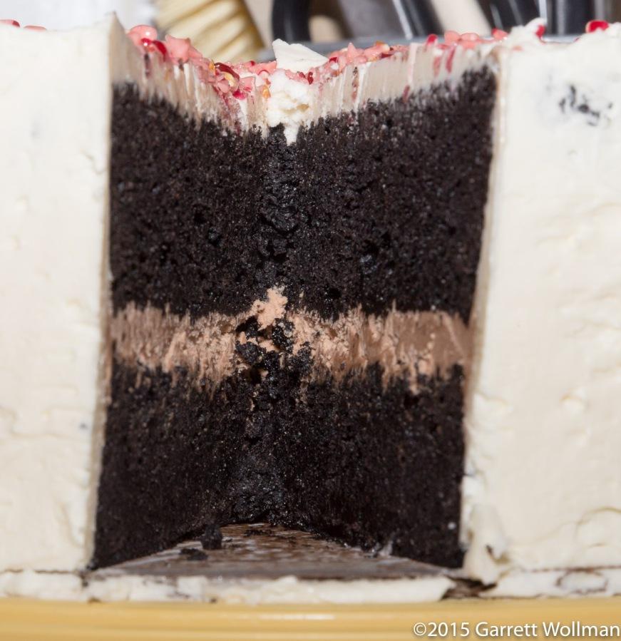 Interior of birthday cake