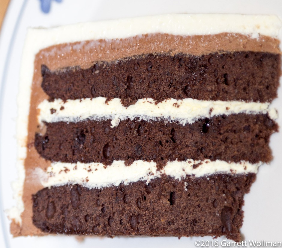 Single slice of cake, close-up for featured photo