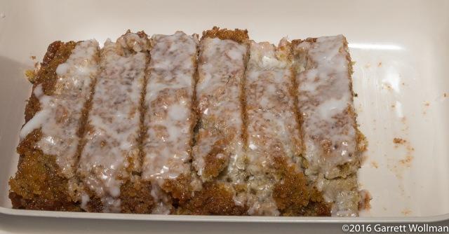 Glazed loaf cake