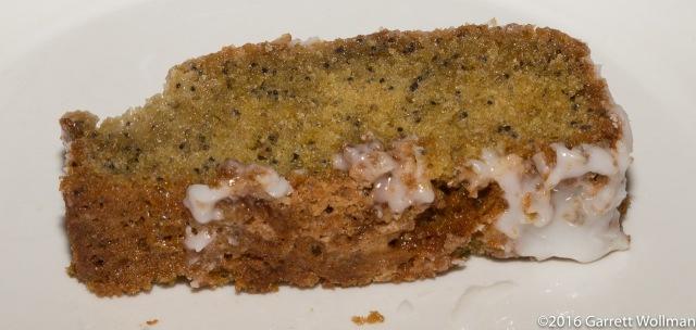 Single slice of loaf cake