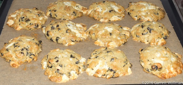"""Second sheet of baked cookies, with some """"runners"""""""