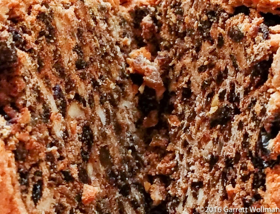 Close-up of cake texture