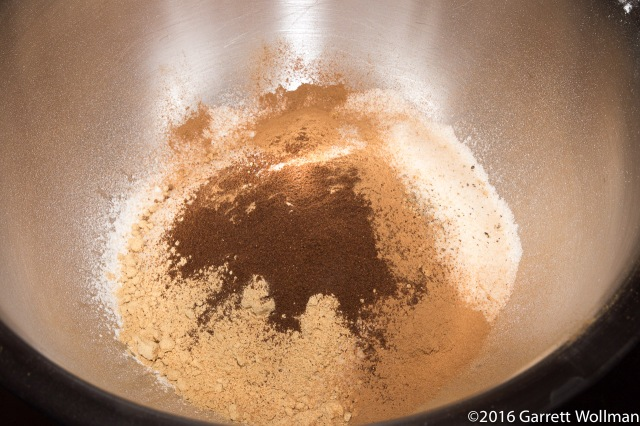 Flour with a load of spices on top